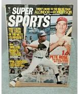 Super Sports April 1971 Willie Mays Giants Pete Rose Reds FAIR GOOD vintage - $11.87