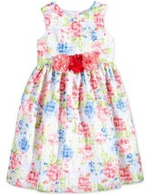 Bella by Marmellata Little Girls' Floral-Print Window Pane Dress, 2T, Org. 74$ - $24.74