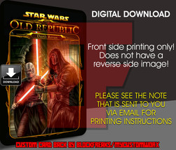 Custom Star Wars Darth Revan Digital Download Card Back V1 - $3.75