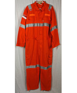 Ultima 100% Cotton Coverall Work Overalls Safety Reflective Suit Heavy D... - $25.00