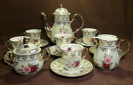 THUN KARLOVARSKY, Gorgeous Rose Design Fine Porcelain China Tea Set - Ne... - $158.35