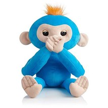 Fingerlings HUGS - Boris Blue - Advanced Interactive Plush Baby Monkey P... - $25.05