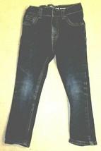 OshKosh B'gosh Toddler Girls Adj Waist Super Skinny Dark Wash Jeans - Size 3T - $10.89