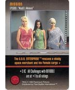 Star Trek the card game CCG - mission - Episode Mudd's Women - 1996 - $4.74