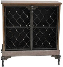 Distressed 2 Door Cabinet Fur Wood Rustic Traditional Shelving Storage F... - $819.72