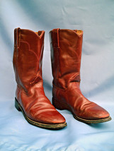 Ladies Western Rust Brown Leather TONY LAMA Cowboy / Cowgirl Boots Size 7 A - $50.00