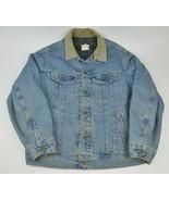 Vtg LEE Storm Rider Blanket Lined DENIM Jacket Medium TRUCKER Jean USA - $57.42