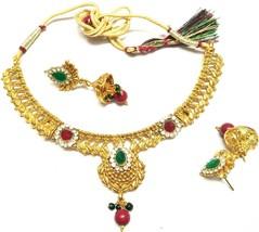 Indian 22k Gold  Gorgeous Women Jewellary Handmade Necklace Earring set ... - $11.88