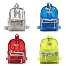 Transparent Clear School Bag Travel Backpack Women Kids Shoulder Tote Ha... - €19,41 EUR