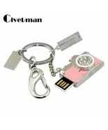 Civetman® Crystal Keychain USB Flash Drive 128GB Metal Camera Pen - $7.78