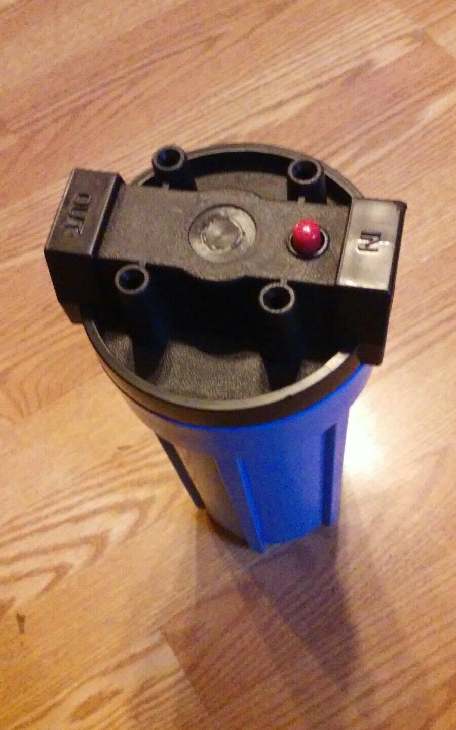 10 inch x 1 inch blue water filter housing