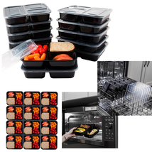 12 Meal Prep Containers Food Storage 3 Compartm... - $13.35