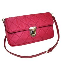 PRADA Prada Tessuto Impuntu Pattina Quilted Nylon Shoulder Bag Pink  - $855.90
