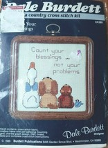 1986 Cross Stitch Kit CK285 Dale Burdett Count your Blessings Not your Probs New - $11.64