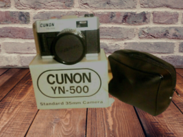 cunon yn-500 standard 35mm camera new in the box with case - $14.86
