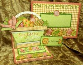 Handmade Greeting Card - Easter Basket Easel Card w/Matching Envie - $8.95
