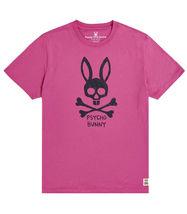 Men's Psycho Bunny Short Sleeve Jasper Graphic Tee Logo Print Magenta T-Shirt image 3
