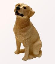 LABRADOR RETRIEVER YELLOW DOG Figurine Statue Hand Painted Resin Living ... - $12.50