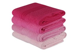 Decorotika 100% Cotton Hand Towels Set of 4 - Shades of Pink - Size 25 x 35 - $29.99