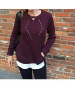 Lululemon Sweater The Better w/ Thumbhole Cuffs in Heathered Bordeaux Dr... - $59.39