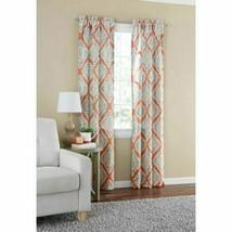 Mainstays Distressed Ikat Room Darkening Window Curtain Panel Pair Terracotta - $19.99