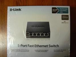 New Sealed D-Link DES-105 5-Port 10/100 Unmanaged Metal Desktop Switch - $24.74