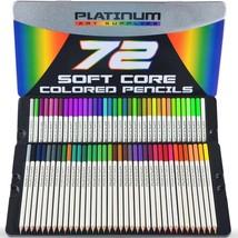 72 Prismacolor Premier Colored Pencils Platinum Soft Core Artist Paint T... - $18.31