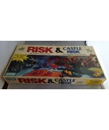 Risk and Castle Risk ~ 2 in 1 Board Game Parker Brothers 1990 ~ Complete - $29.92