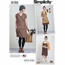 Simplicity Dottie Angel Misses' Slip, Slip Or Wrap Dress-12-14-16-18-20 ... - $11.99