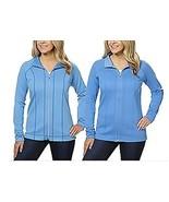 Kirkland Women's Reversible Full Zip Jacket Blue Sz L XL - $14.79