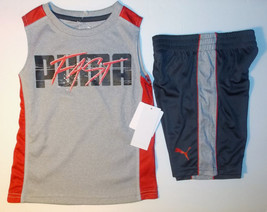 Puma Boys 2pc Shorts and Muscle Shirt Outfit Size 4 NWT - $19.49