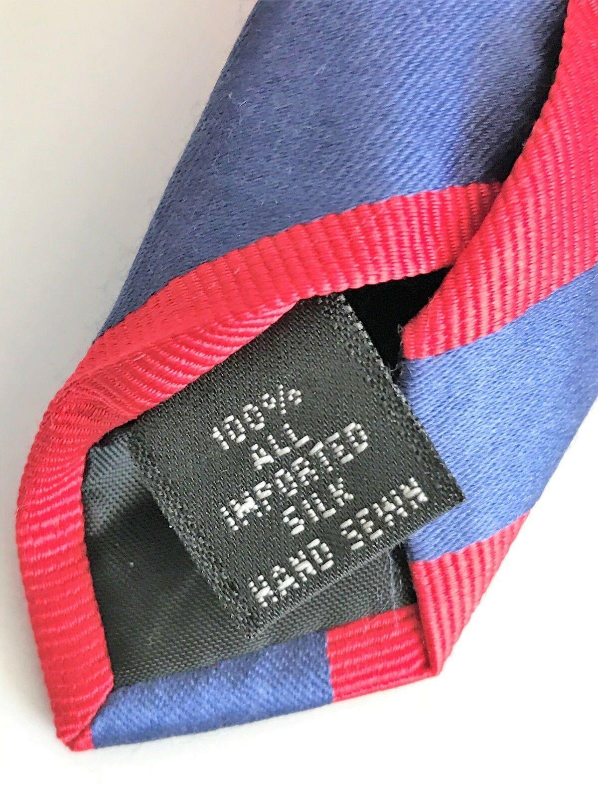 Kenneth Cole Reaction Men's Striped Blue & Red Silk Necktie image 6