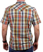 NEW LEVI'S MEN'S CLASSIC COTTON CASUAL BUTTON UP PLAID BURNT PRD-3LYSW6102 image 4