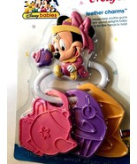 NEW Disney Minnie Mouse Multi-colored Baby Teether Charms Gardening Minnie - $13.10 CAD