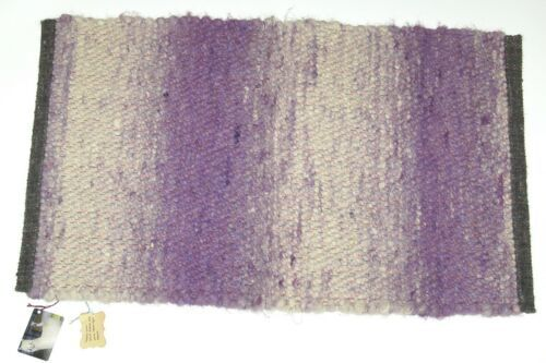 RC Mueller Alpacas LLC CCR23 Kiss Me Quick Hand Woven Rug Purple White Gray
