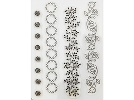Stampin' Up! Bordering Blooms Clear Stamp Set #133660 image 2
