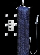 "Cascada Bathroom Shower Set with Luxury 10"" Water Power LED Shower Head (Ceiling - $603.85"