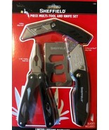 Sheffield 4 Piece Multi-Tool And Knife Set New - $24.95