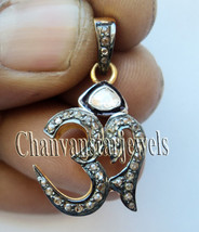 Divine Om Vintage Style Rose Cut Polky 0.65Ct Diamond 925 Silver Pendant... - $4.970,76 MXN