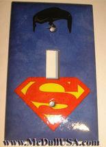 Superman comics Logo Light Switch Duplex Outlet Cover Plate Home decor