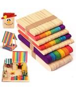 50Pcs DIY Wooden Popsicle Ice Cream Colorful Sticks Toys For Children Ki... - $4.99+