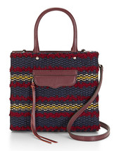 Rebecca Minkoff MAB Woven Tweed Port Leather Convertible Mini Tote RARE - $111.60