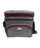 Brentwood Cooler Bag 6 Can w/ Hard Plastic Ice Bucket-RED - $27.25