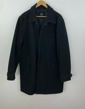 Gap Wool Blend Coat Mens Large Black Full Hidden Zipper A24-09 - $26.08