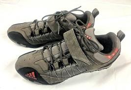 Adidas Cycling Shoes Mens 11 Gray Black Lace Up Hook and Loop - $46.77
