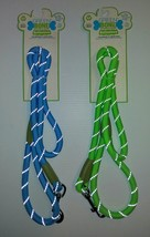 GREEN BONE REFLECTIVE DOG LEASH 4ft Thick Rope for Med - Large Dog Green... - $14.00