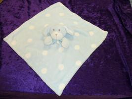Blankets & and Beyond Blue White Spot Polka Dot Puppy Dog Bunny Nunu Lovey - $59.39