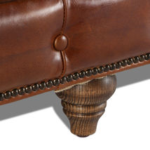 MarquessLife 100% Genuine Antique Leather Tufted Couch 3 Seater Sofa Handmade image 5