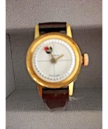 Ladies's Vintage Eastman Watch With Bezel & Patent Leather Band - $32.73