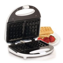Maximatic Elite Cuisine Waffle Maker With Non-Stick White Ewm-9008K Belgian - $38.72